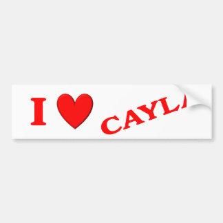 I Love Cayla Car Bumper Sticker