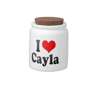 I love Cayla Candy Jar