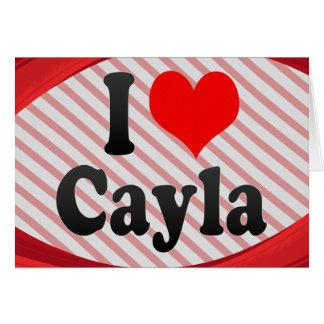 I love Cayla Stationery Note Card