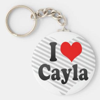 I love Cayla Basic Round Button Keychain
