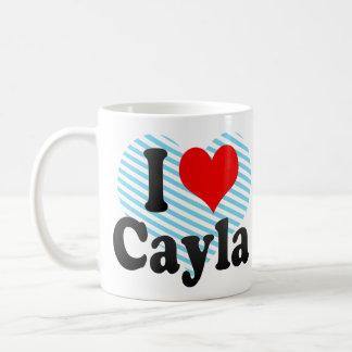 I love Cayla Classic White Coffee Mug