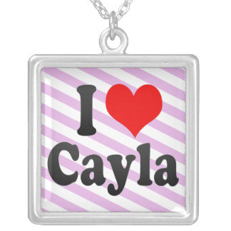 I love Cayla Square Pendant Necklace