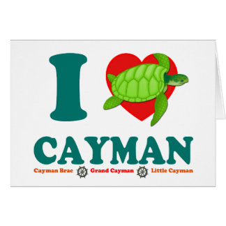 I Love Cayman Card