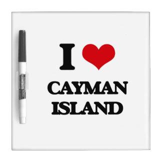I Love Cayman Island Dry-Erase Boards