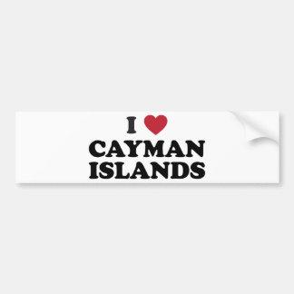 I Love Cayman Islands Car Bumper Sticker