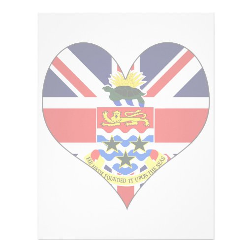 I Love Cayman Islands Customized Letterhead