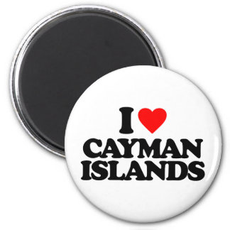 I LOVE CAYMAN ISLANDS REFRIGERATOR MAGNET