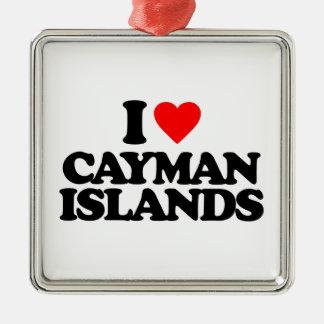 I LOVE CAYMAN ISLANDS CHRISTMAS ORNAMENT