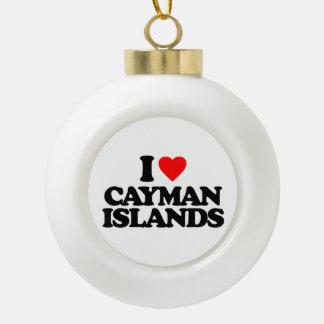 I LOVE CAYMAN ISLANDS ORNAMENT