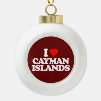 I LOVE CAYMAN ISLANDS ORNAMENTS