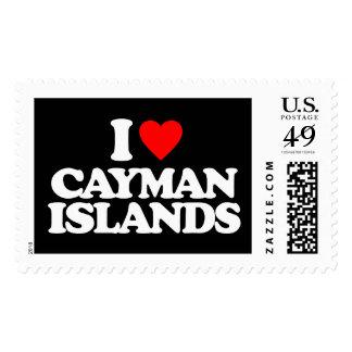 I LOVE CAYMAN ISLANDS STAMP