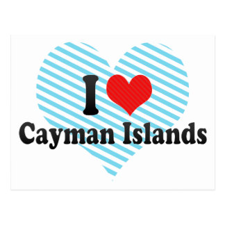 I Love Cayman Islands Postcard