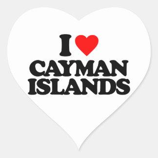 I LOVE CAYMAN ISLANDS STICKERS
