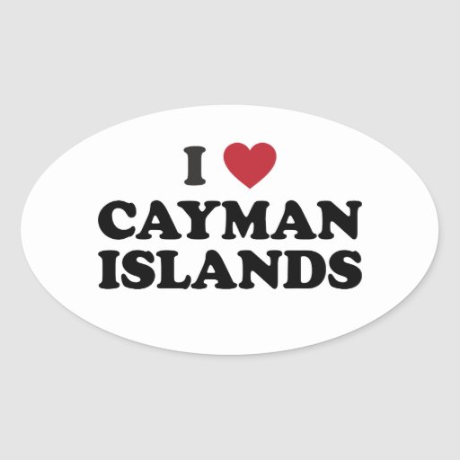 I Love Cayman Islands Stickers