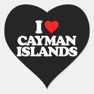 I LOVE CAYMAN ISLANDS STICKER