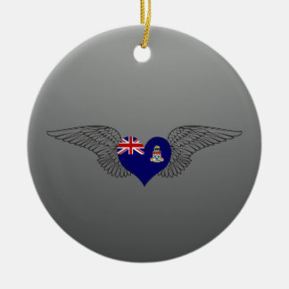 I Love Cayman Islands -wings Christmas Ornaments