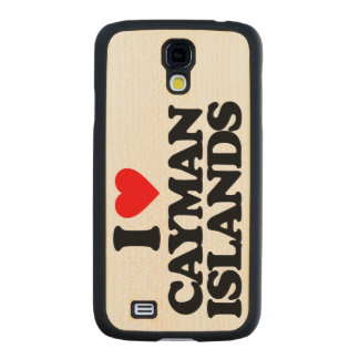I LOVE CAYMAN ISLANDS CARVED® MAPLE GALAXY S4 SLIM CASE