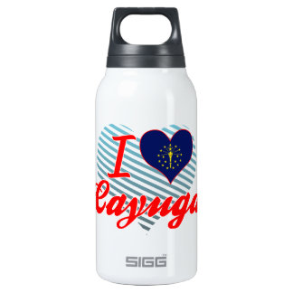 I Love Cayuga, Indiana 10 Oz Insulated SIGG Thermos Water Bottle