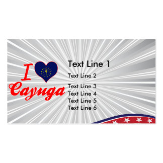 I Love Cayuga, Indiana Double-Sided Standard Business Cards (Pack Of 100)
