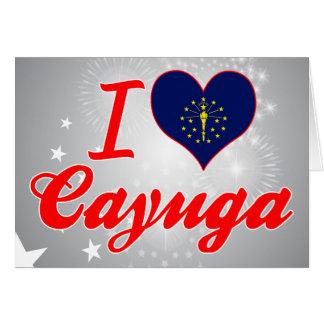 I Love Cayuga, Indiana Greeting Card