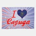 I Love Cayuga, Indiana Kitchen Towels