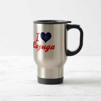 I Love Cayuga, Indiana 15 Oz Stainless Steel Travel Mug