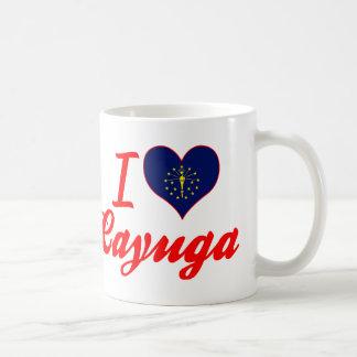 I Love Cayuga, Indiana Classic White Coffee Mug