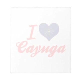 I Love Cayuga, Indiana Notepad