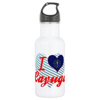 I Love Cayuga, Indiana 18oz Water Bottle