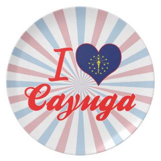 I Love Cayuga, Indiana Dinner Plate