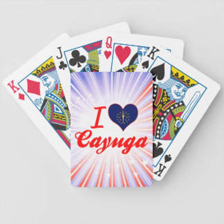 I Love Cayuga, Indiana Bicycle Poker Deck