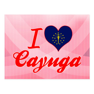 I Love Cayuga, Indiana Postcard