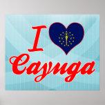 I Love Cayuga, Indiana Print