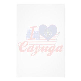 I Love Cayuga, Indiana Stationery Paper