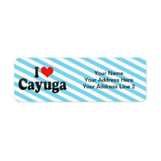 I Love Cayuga Label