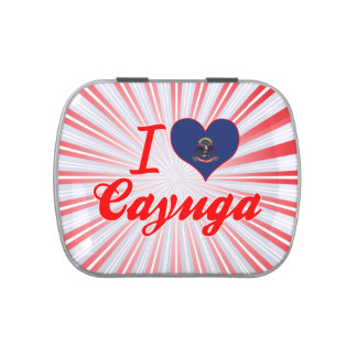 I Love Cayuga, North Dakota Jelly Belly Candy Tin