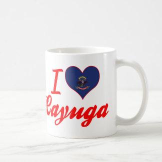 I Love Cayuga, North Dakota Classic White Coffee Mug