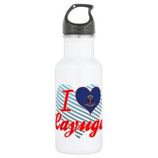 I Love Cayuga, North Dakota 18oz Water Bottle