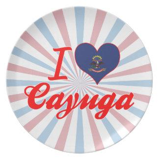 I Love Cayuga, North Dakota Party Plate