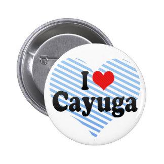 I Love Cayuga Pinback Button