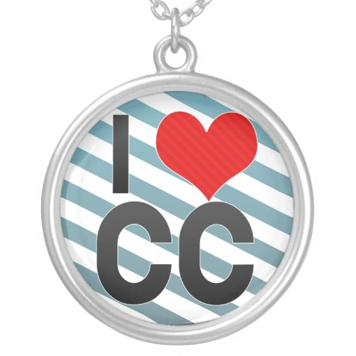 I Love CC Necklace