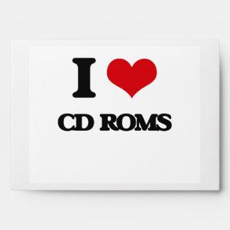 I love Cd-Roms Envelopes