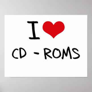 I love Cd-Roms Posters