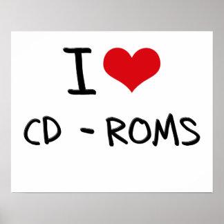 I love Cd-Roms Poster