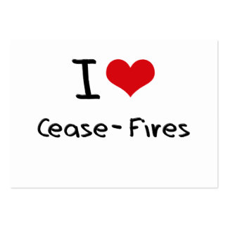 I love Cease-Fires Large Business Cards (Pack Of 100)