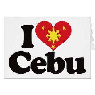 I Love Cebu Greeting Cards