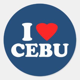 I Love Cebu Round Stickers