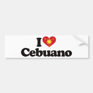 I Love Cebuano Bumper Sticker
