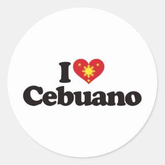 I Love Cebuano Classic Round Sticker