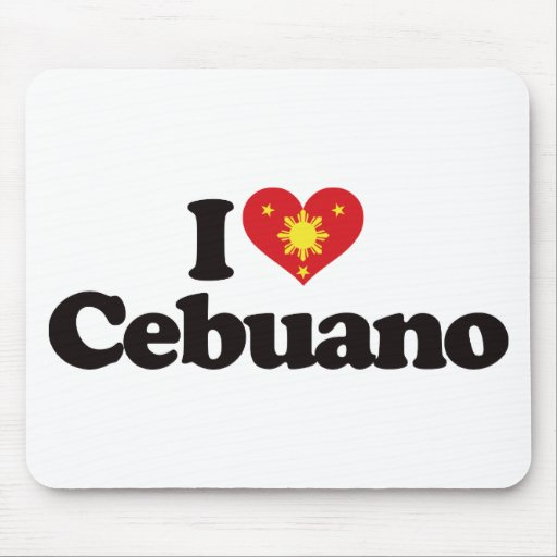 I Love Cebuano Mouse Pads